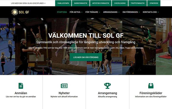 Nya hemsidan solgf.se
