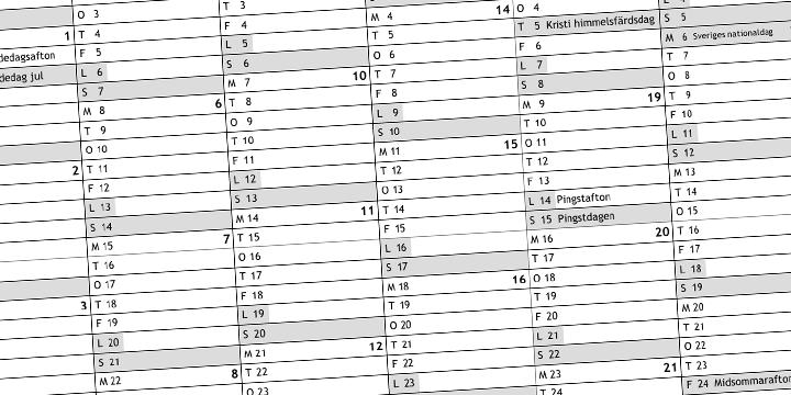 Kalender aktuella arrangemang
