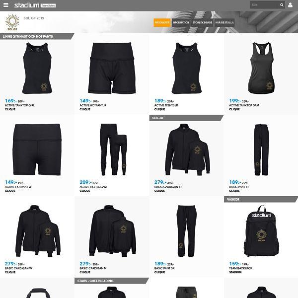 Stadium webbutik SOL profilkläder